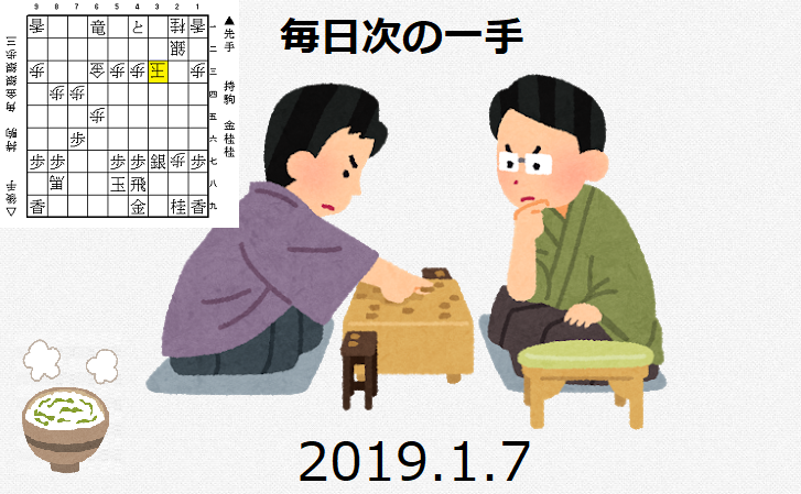 毎日次の一手(2019.1.7)